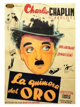 The Gold Rush, Spanish Movie Poster, 1925