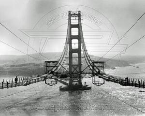 The Golden Gate Bridge During Construction
