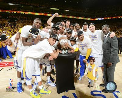 The Golden St Warriors Celebrate Conference Finals