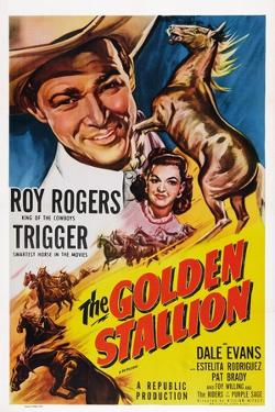 The Golden Stallion, from Top: Roy Rogers, Dale Evans, Trigger (Far Right), 1949