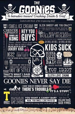 The Goonies - Typographic