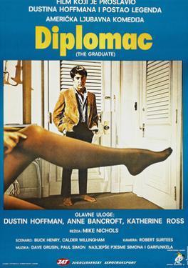 The Graduate, (aka Diplomac), Yugoslavian poster, Dustin Hoffman, 1967