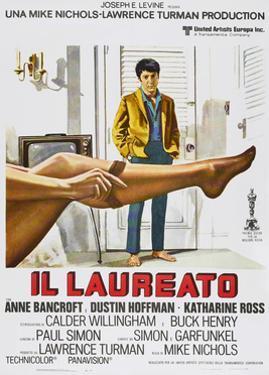 The Graduate, (aka Il Laureato), Italian poster, Dustin Hoffman, 1967