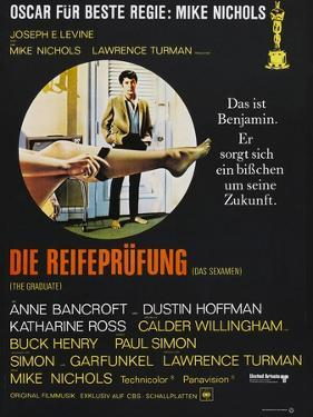 The Graduate (Die Reifeprufung), German poster, Dustin Hoffman, 1967