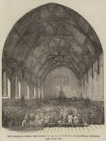The Grammar School (The School of Sir Isaac Newton) at Grantham, Restored