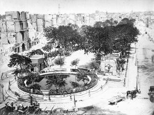 The Grand Square after the Fire, Alexandria, Egypt, C1910S