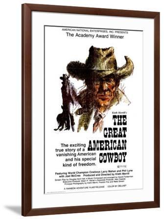 The Great American Cowboy--Framed Poster