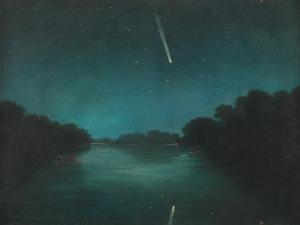 The Great Comet of 1861 as Seen from Staines Bridge, Middlesex