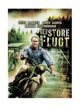 The Great Escape, (Den Stoer Flugt), Steve Mcqueen on Danish Poster Art, 1963