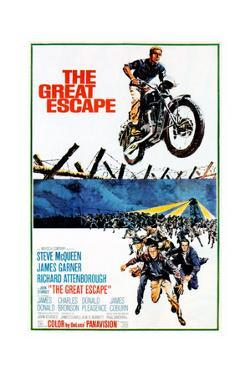 The Great Escape, Steve Mcqueen, Richard Attenborough, James Garner on Poster Art, 1963