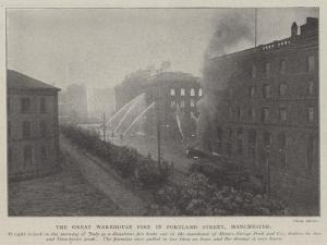 The Great Warehouse Fire in Portland Street, Manchester