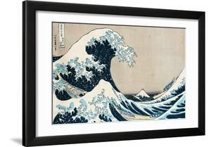 The Great Wave Off Kanagawa  from the Series 36 Views of Mt. Fuji (Fugaku Sanjuokkei)