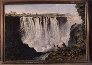 The Great Western Fall, Victoria Falls by Thomas Baines (27/11/1820 - 8/5/1875), an English…