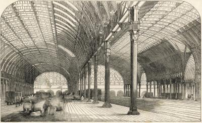 The Great Western Railway Terminus at Paddington Station