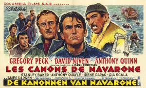 The Guns of Navarone, Belgian Movie Poster, 1961