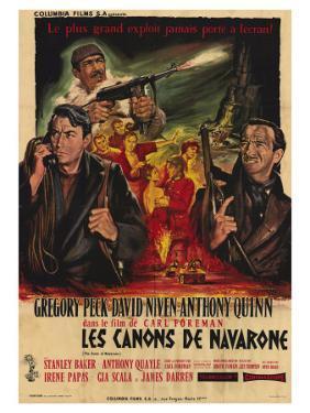The Guns of Navarone, French Movie Poster, 1961