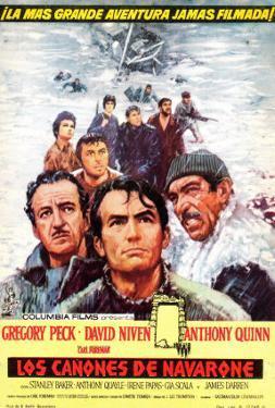 The Guns of Navarone, Spanish Movie Poster, 1961
