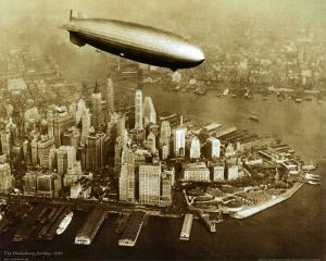 The Hindenburg Airship, 1936