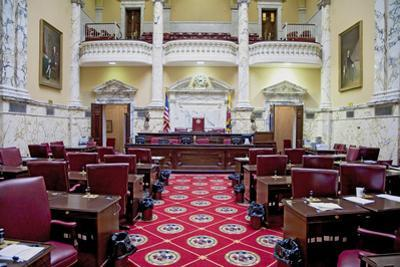 The historic House Chamber of Maryland State House and State Capitol, Annapolis, Maryland