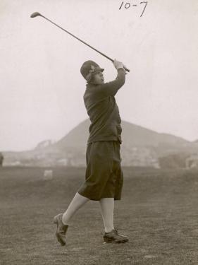 The Hon. Miriam Pease Playing Golf at North Berwick Links Scotland