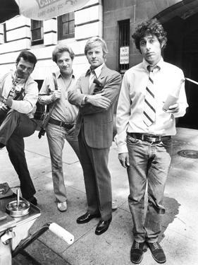 The Hot Rock, from Left: Ron Leibman, George Segal, Robert Redford, Paul Sand, 1972