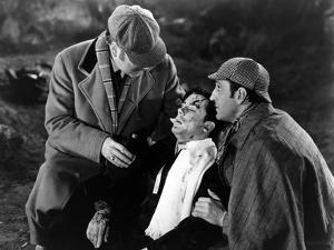 THE HOUND OF THE BASKERVILLES, 1939 directed by SIDNEY LANFIELD. Nigel Bruce, Richard Greene and Ba
