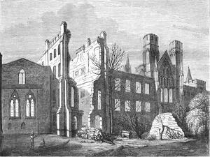 The Houses of Parliament after the Fire in 1834,