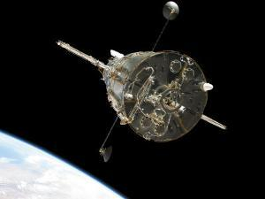 The Hubble Space Telescope in Orbit Above Earth