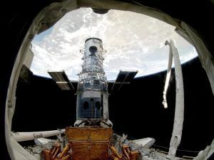The Hubble Space Telescope, Locked Down in the Cargo Bay of Space Shuttle Atlantis