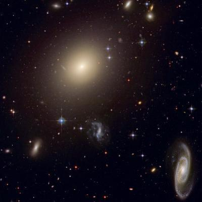 The Hubble Space Telescope reveals an array of galaxies