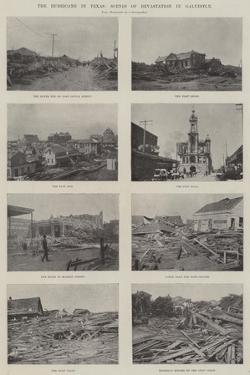 The Hurricane in Texas, Scenes of Devastation in Galveston