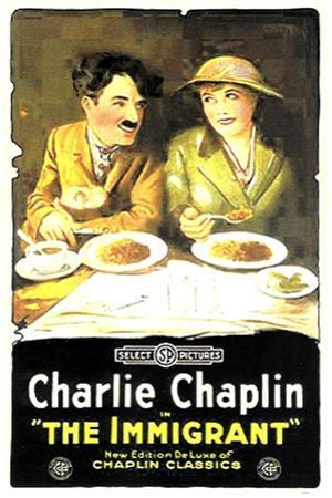 The Immigrant Movie Charlie Chaplin Plastic Sign