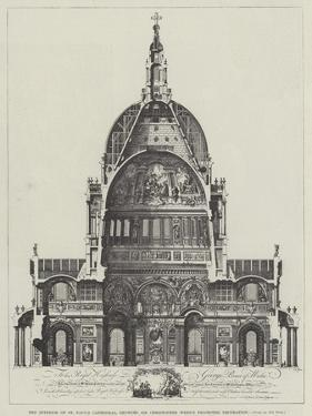 The Interior of St Paul's Cathedral, Showing Sir Christopher Wren's Projected Decoration
