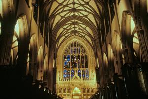 The interior of the Trinity Church on Wall Street in New York City New York