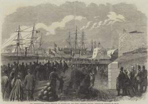 The International Naval Festival at Portsmouth, the Reine Hortense Leaving Portsmouth Harbour