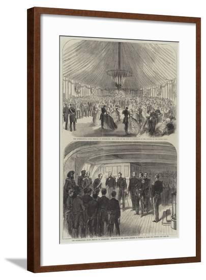 The International Naval Festival at Portsmouth--Framed Giclee Print
