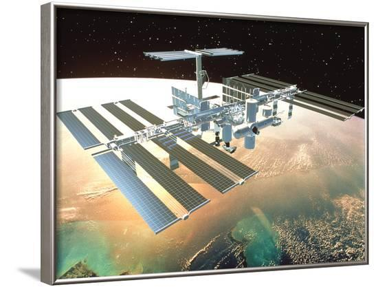 The International Space Station--Framed Photographic Print