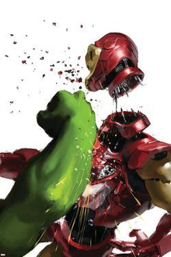 The Invincible Iron Man #19 Cover: Hulk and Iron Man
