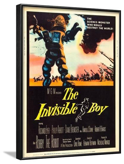 The Invisible Boy, Robby the Robot, 1957--Framed Photo