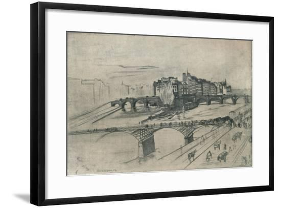 'The Isle De La Cite, Paris', 1859-James Abbott McNeill Whistler-Framed Giclee Print