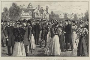 The Italian Squadron at Portsmouth, Garden-Party at Government House