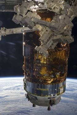 The Japanese H-Ii Transfer Vehicle Attached to the International Space Station
