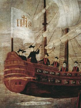 The Jesuits Arriving by Ship Off the Coast of New Granada