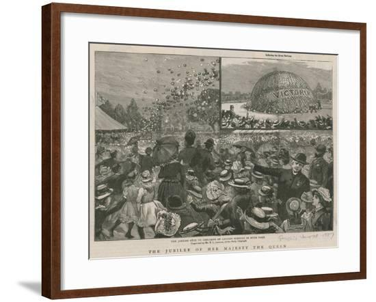 The Jubilee Fete to the Children of London Schools in Hyde Park--Framed Giclee Print