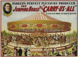 """The Jumping Horse """"Carry-Us-All"""" Carnival Poster"""