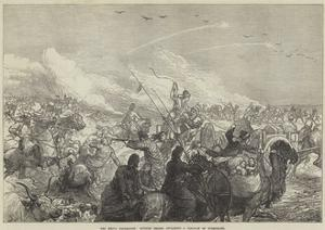 The Khiva Expedition, Russian Troops Attacking a Caravan of Turkomans