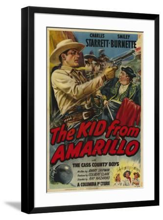 The Kid From Amarillo--Framed Poster