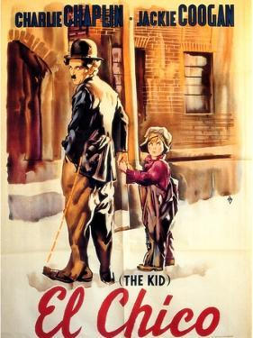 The Kid, Spanish Movie Poster, 1921