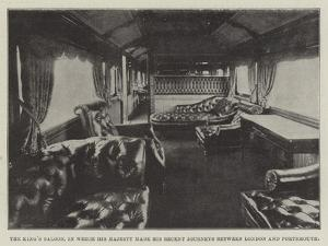 The King's Saloon, in Which His Majesty Made His Recent Journey Between London and Portsmouth