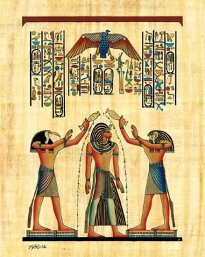 The King with Horus
